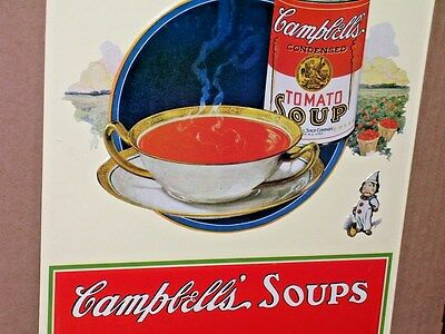 CAMPBELL'S - Tomato Soup - CAN and BOWL - Field of Tomatoes- LUNCH DINNER SUPPER