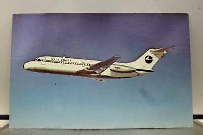 Aircraft West Coast Airlines McDonnell Postcard Old Vintage Card View Standard