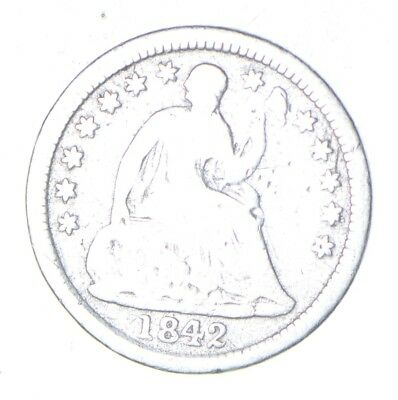 5c *1/2 Dime HALF* 1842-O Seated Liberty Half Dime Early American Type Coin *865