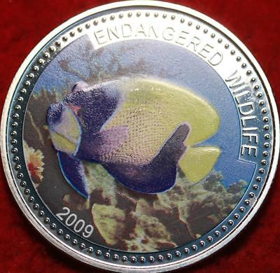 Uncirculated 2009 Palau $1 Silver Colorized Endangered Wildlife Foreign Coin