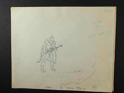 LOT of 23 1990s SCI-FI SOLDIER ANIMATION PRODUCTION ART~