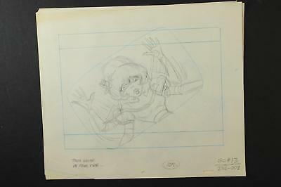 LOT of 12 1990s MISC. ANIMATION PRODUCTION ART of CAR and TAVIA~