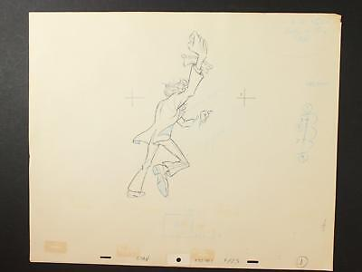LOT of 36 1990s MISC. ANIMATION PRODUCTION ART of WELL DRESSED MALE FIGURE~