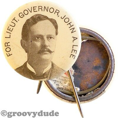 1900 John A Lee For Lt. Governor Missouri Vintage Pin Pinback Button
