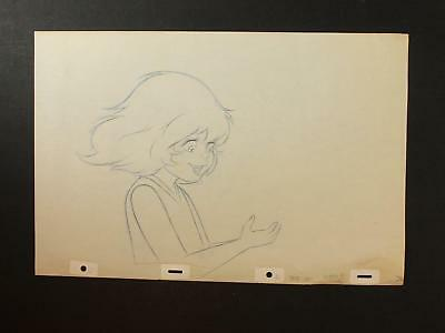 LOT of FIVE 1990s MISC. ANIMATION PRODUCTION ART of HAPPY GIRL~