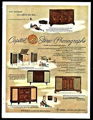 1959 CAPITOL Stereo Phonograph Record Player AD model 936 933 930 9340 935