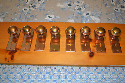 Antique Vintage East Lake 4 Sets Of Brass Door Knobs & Plates  #62