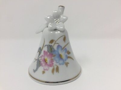 Krautheim Porcelain Bell Garden of Paradise Floral Pastel Made in West Germany