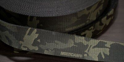 "45mm - 1.75"" Type 13 Double Sided Crye Multicam Black Webbing ( 7000lbs strength"
