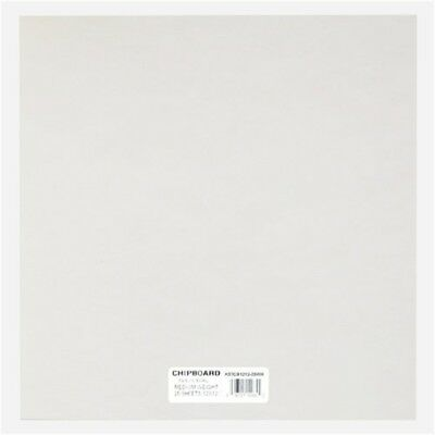 Grafix Grafix 12 x 12-inch Medium Weight Chipboard Sheets, Pack Of 25, White -
