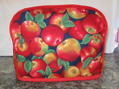 Cluster of Red Apples cotton fabric Handmade 2 slice toaster cover (ONLY)