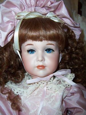 Reproduction Porcelain German Doll K  R Simon Halbig Mein Liebling Jointed Dress