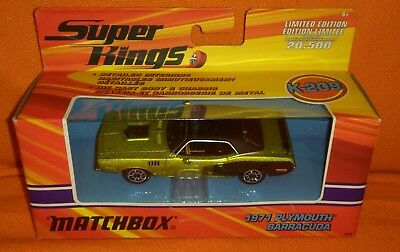 # 1/43 Matchbox Super Kings K-209 - 1971 Plymouth Barracuda - Diecast Nuovo Mib#