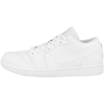 Nike Air Jordan 1 Low Schuhe Basketball Sport Freizeit Sneaker white 553558-109