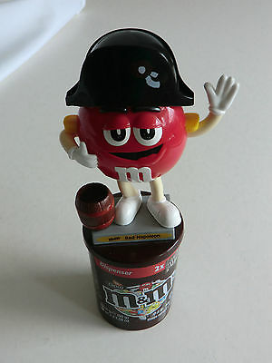 M&M M&M's Spender Figur  Red Napoleon  auf brauner  Dose super rar s. Foto