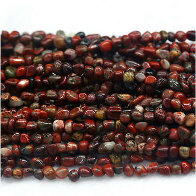 Natural Genuine Red BRECIATED Jasper Nugget Free Form Stone Beads