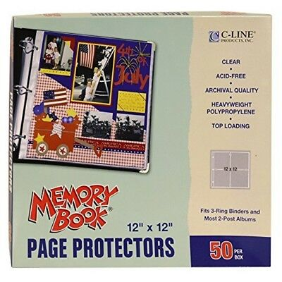Page Protector 12x12 Clear 50ct - Memory Book Toploading Protectors 50pkg