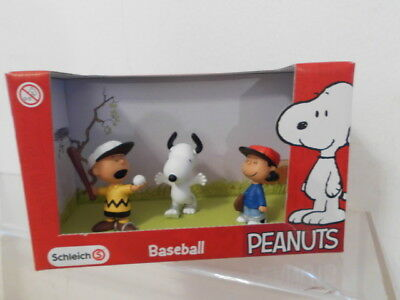 Snoopy Peanuts Schleich Pack Box 3 x Figur: Baseball mit Charlie Brown + Lucy