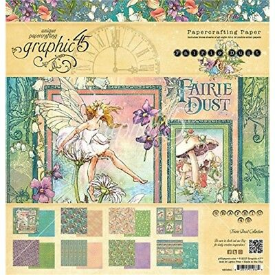 Graphic 45 12x12 Collection Pack - Fairie Dust - Paper 12 Crafting x 8 Pad Set