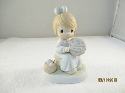 Precious Moments THE LORD IS COUNTING ON YOU FIGURINE Trumpet The Lord 10243965