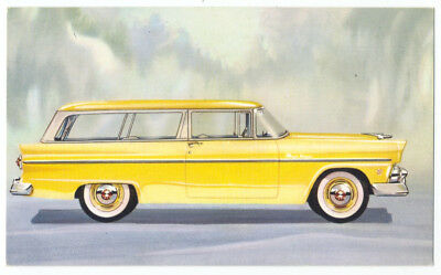 1955 FORD RANCH WAGON - Original Ad Postcard