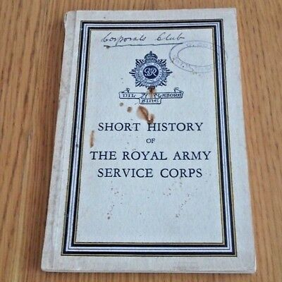 Short History of the Royal Army Service Corps, 1939