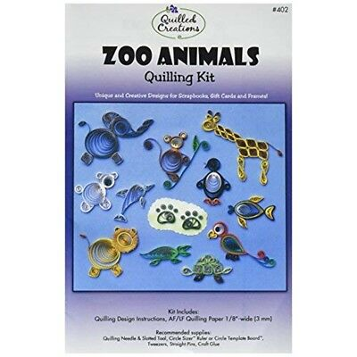 Quilled Creations Paper Quilling Kit Zoo Animals - Kit
