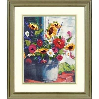 Dimensions Crewel Embroidery -bucket Of Flowers - Bucket Kit D01534 Gallery