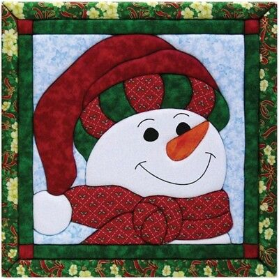 Quilt Magic 12-inch By 12-inch Snowman Kit - Kit12x12 Qm426