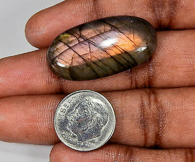 "36cts. Natural ""Gracious"" Purple labradorite Cabochon Gemstone Oval ;#23200"