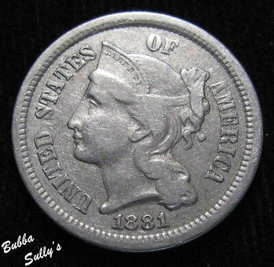 1881 III Cent Nickel <> EXTREMELY FINE
