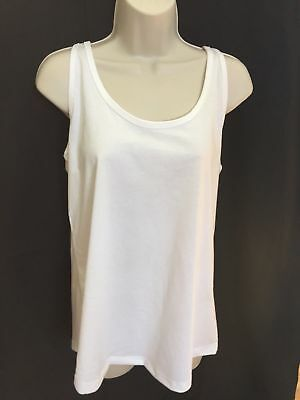 NWT white plain NIKE Regular Fit Tank Top shirt size Large