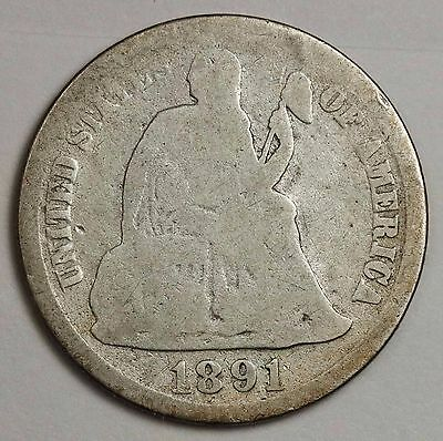 1891-s Liberty Seated Dime.  Circulated.  114403