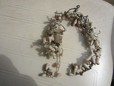 Antique Vintage Wedding Headpiece Wax Flower Crown Victorian