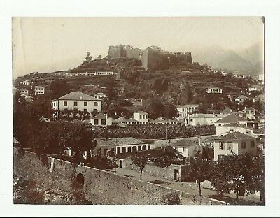 3 large real original photographs.Madeira. 1913. Castle,Steamers,Waterfall.
