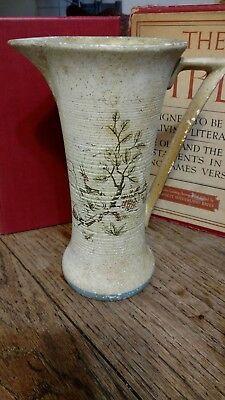 Charlotte Rhead style vase with handle made in England 593-A beautiful pattern
