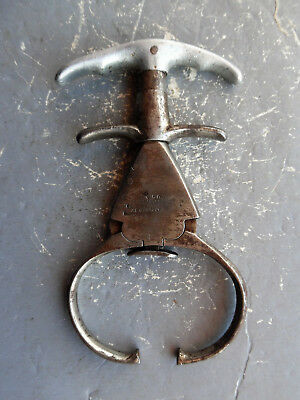 antique western cowboy MALTBY iron claw nipper twister restraint spur handcuffs