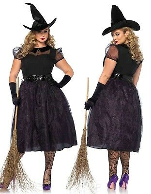 Leg Avenue Darling Spellcaster Vintage Witch Women Plus Size Costume 1x/2x 3x/4x