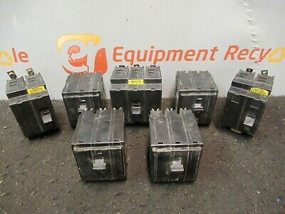 Square D 20A Circuit Breakers 2 & 3 Pole Lot of 7