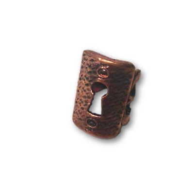 Steampunk Key Hole Ring Antique Copper Look Industrial Victorian Jewelry Prop