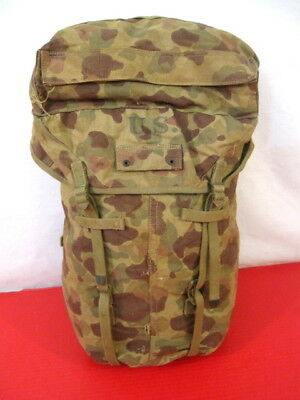 WWII US Army M1942 Canvas Jungle Combat Pack - Camouflage - Dtd 1943 - Original