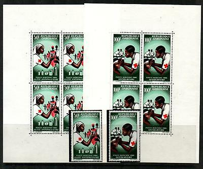 Gabon C41-2,C41a-2a Mint NH (Catalog Value $26.75)