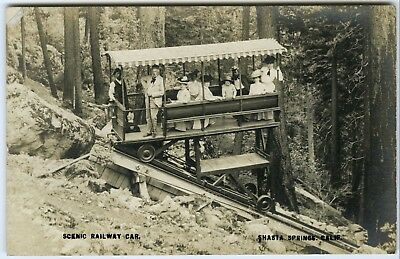 1900s RPPC SHASTA SPRINGS CA SCENIC RAILWAY GROUP~PRIVATE MAILING CARD POSTCARD