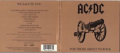 AC/DC - For Those About To Rock We Salute You [Remaster] (CD, Apr-2003, Epic)