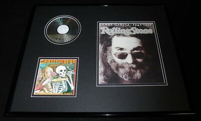 Jerry Garcia Framed 16x20 Rolling Stone Cover & Grateful Dead CD Display
