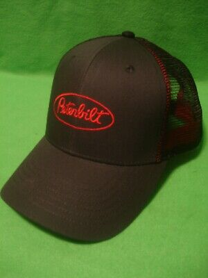 Peterbilt Hat:     Charcoal Twill Mesh Truckers Cap     Free Shipping in USA