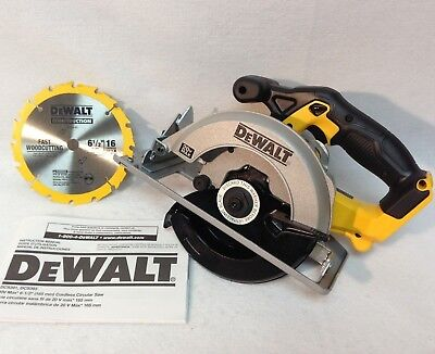 Dewalt DCS393 NEW 20v Volt Lithium Ion 6-1/2 Cordless Circular Saw with Blade