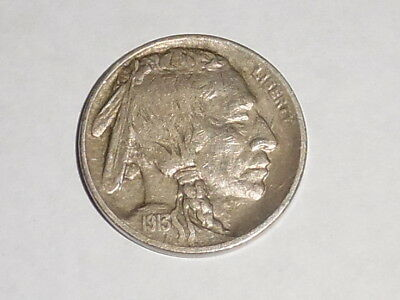 1913 United States Type 2 Buffalo Nickle. Full Horn, Almost Uncirculated.