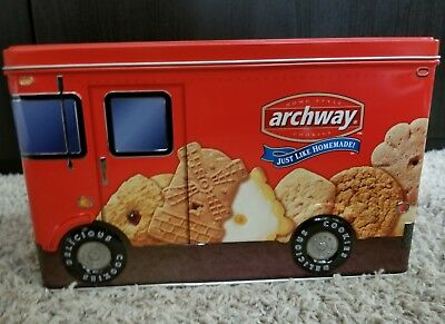 Rare Archway Cookie Tin Delivery Truck Jar Container 2002 HT