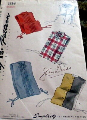 LOVELY VTG 1940s DICKIES Sewing Pattern 16/34